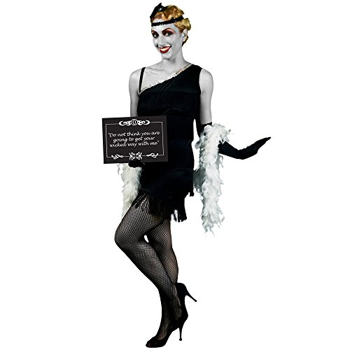 Movie Costumes Female - Morphsuits Women's Morphcostume Co Silent Movie Starlet 1920S Female Costume, Black, Medium