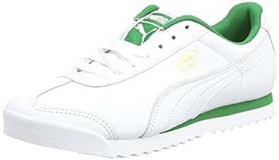 Puma Erkek Roma Classic Spor Ayakkabı, Beyaz/Yeşil, 40 Numara