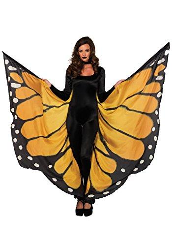 Leg Avenue Festival Monarch Butterfly Wing Halter Cape Gold/Black One (Black Butterfly Wings)