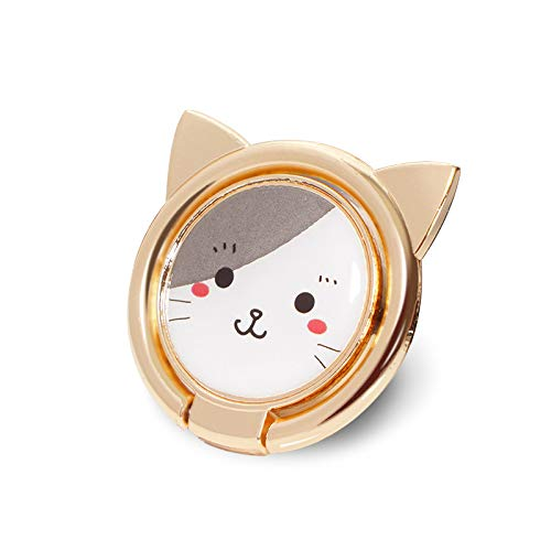 Alzcatek Finger Ring Stand 360 Degree Rotation, Thin Universal Phone Cute Cat Ring Holder Compatible with iPhone Xs, iPhone Xs MAX, iPhone X, iPhone 78/78 Plus, Samsung, LG and Other Smartphones