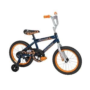 Huffy Boy's Pro Thunder Bike (Blue Ribbon/Trophy Silver, Medium/16-Inch)