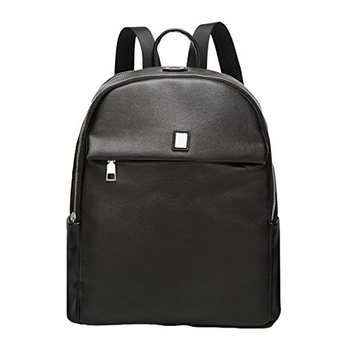 Bolso De Hombro De Las Señoras Pure Color Dermatology School Wind Student Backpack Black