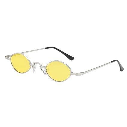 34b5281043 Prettyia Gafas De Sol Lentes Ovales UV 400 Montura Metálica Estilo Retro  para Mujer Señora -