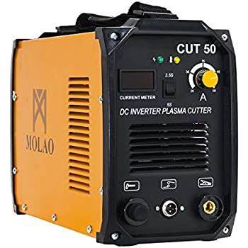 SUNCOO Cut-50 Plasma Cutter Electric DC Inverter Cutting Machine with Digital Display Dual Voltage 110/220V, 1/2