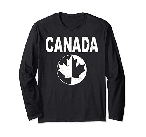 Canada Soccer Jersey Womens World 2019 Cup Vintage Retro Long Sleeve T-Shirt