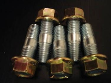 5 x Turbo Exhaust Nuts & Studs - M10 thread - 38mm length Malian
