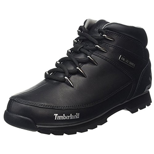 Timberland Mens Euro Sprint Hiker Black Leather Boots 8.5 US