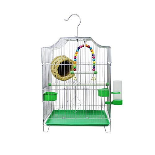 Xinxinchaoshi Pet Supplies Home-Style Economic Bird Cage Comes with 2 Feeding Bowls and 1 Drinking Fountain