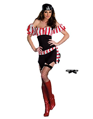 Photos Of Caribbean Carnival Costumes (SAKURA-S Women's Sexy Swashbuckler Pirate Costume (Free size))