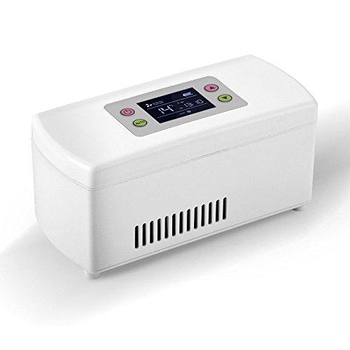 Enshey Insulin Cooler Refrigerator Portable Drug Cooler Box Mini Refrigerator Low Noise Insulin Cooler for Home Travel Car