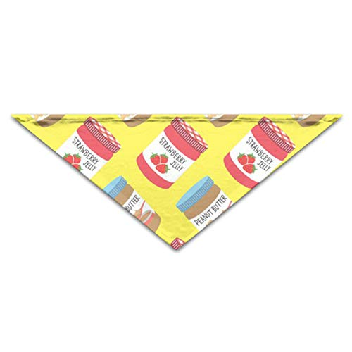 OLOSARO Dog Bandana Strawberry Jelly Peanut Butter Pattern Triangle Bibs Scarf Accessories for Dogs Cats Pets Animals -