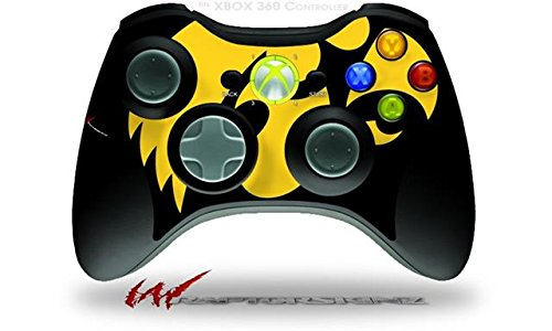 XBOX 360 Wireless Controller Decal Style Skin - Iowa Hawkeyes Tigerhawk Gold on Black 02 (CONTROLLER NOT INCLUDED)