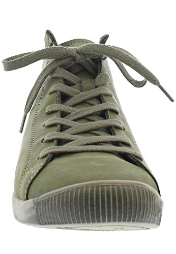 Anthracite 061 Sneaker Softinos Collo Alto Washed Donna Grau a Isleen HqrnzwxH8