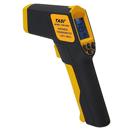Infrarot Thermometer Laser ,TASI 8608 Kontaktloser Pistole Temperatur Gun( -32°C bis +530°C) mit LCD Hintergrundbeleuchtung