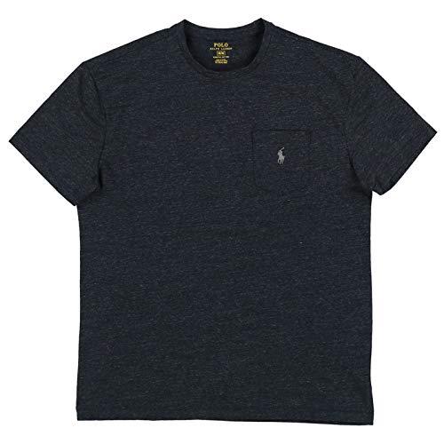 (Polo Ralph Lauren Mens Stretch Cotton Pocket T-Shirt (X-Large, Black)