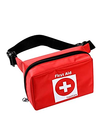 2-in-1 FIRST AID KIT IN POUCH BAG & BONUS FIRST AID GUIDE(English) w/ 101 Essential Piece Home/Outdoor/Car/Camping/Hiking/Sport/School/Travel-Portable Emergency Medical Bag