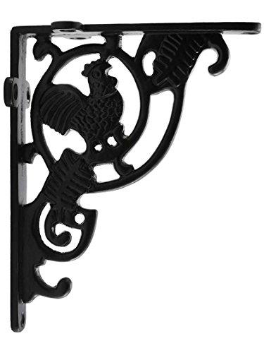 (Rooster Cast-Iron Shelf Bracket - 5 1/4