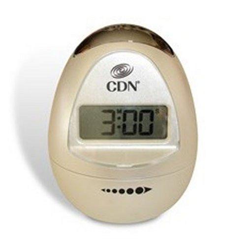 CDN TM12-W Digital Egg timer, Peal White (Timer Shaped Egg)