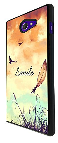 Birds And Sky Smile Fun 187 Design Fashion Trend Sony Xperia M2 Case Back COVER PLASTIC/METAL