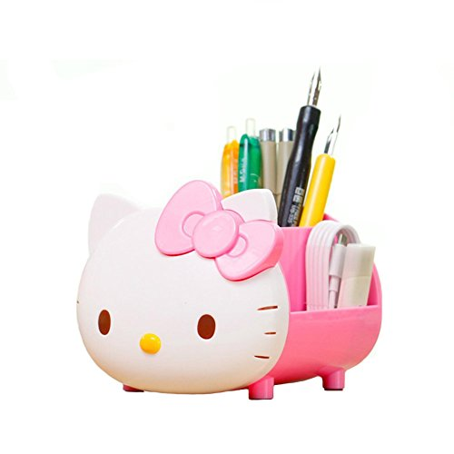 YOURNELO Pretty Multifunctional Hello Kitty Pen Pencil Holder Desk Organizer (Hello Kitty Stationery)