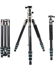 BONFOTO Kamera Stativ, Tragbare Aluminium Fotostativ mit 360° Kugelkopf Leichtgewichtiges Stativ, Kompatibel mit Canon/Nikon/Olympus/Pentax DSLR und Allen Kameras