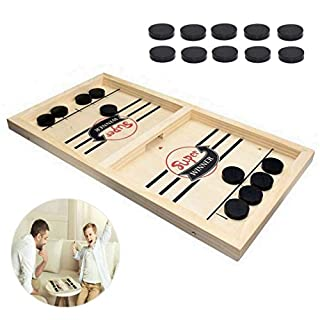Fast Sling Puck Game | Paced Slingpuck Winner Fun Toys Board Game | Party Game Toys Gift for Adults & Kids Children