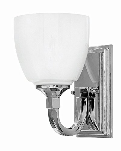 Sconce Chrome Hinkley (Hinkley 5600CM Transitional One Light Bath Wall Sconce from Faye collection in Chrome, Pol. Nckl.finish,)