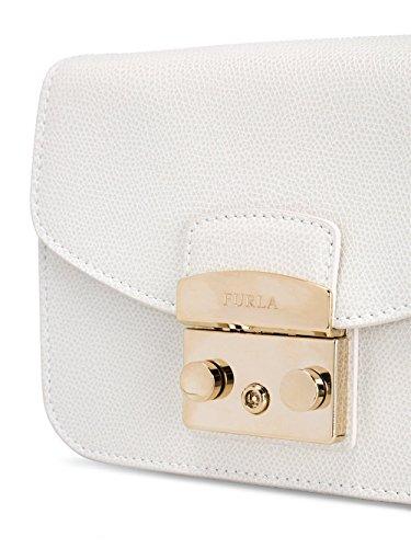 Bolso Furla De Mujer Blanco Hombro 820677 Cuero 0IrSI8q