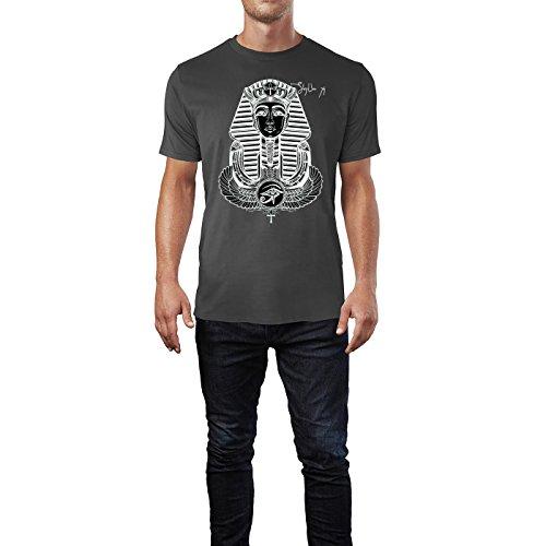 SINUS ART ® Geflügelter Ankh im Tattoo Stil Herren T-Shirts in Smoke Fun Shirt mit tollen Aufdruck