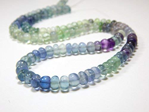 Fluorite Shaded Roundelle Beads/Fluorite Shaded Smooth Beads 100 Persent Natural Gemstone Size 6x5.mm 18