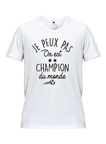Homme T Shirt Football Je Peux Pas On Est Champion Du Monde 2018