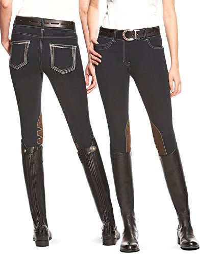 不利益管理するオーナーAriat女性のファッション5 Pocket Low Rise膝パッチパンツ