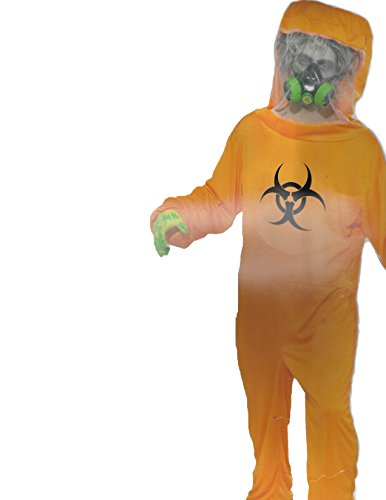 Nuclear Zombie Costume (Forum Halloween Cosplay Biohazard Suit Adult Costume, Orange, One Size)