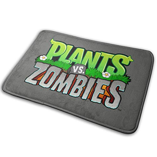 MasakoJMassie Plants Vs. Zombies Square Flannel Carpet Bath Mat Non covid 19 (Plants Zombies Pattern coronavirus)