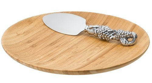 Arthur Court Bamboo/Grape 9-Inch Plate with Cheese Server