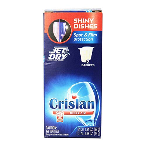 Finish Jet-Dry Solid Rinse Aid, 2.68 oz, 2 Baskets, Dishwasher Rinse Agent & Drying ()