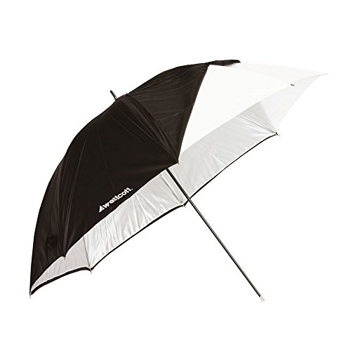 Westcott 2012 32-Inch Optical White Satin with Removable Black Cover Umbrella by Westcott