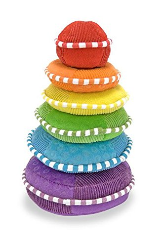 Plush Stacker Ring - Melissa & Doug Soft Rainbow Stacker Educational Toy