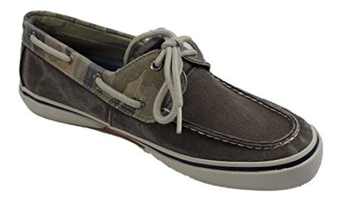 Sperry Halyard 2 Eye Camo Brown Bootsschuhe Segelschuhe Sneaker Herren