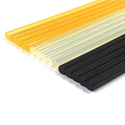 Anyyion Car Glue Sticks Hot Glue Sticks Paintless Dent Repair Tool for Car Repair Dent Remover Tool Set - 5 Packs Black & 5 Pack Yellow