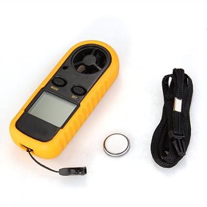 Sonline Anemometro Termometro Digital Medidor de Velocidad Viento Aire