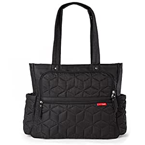 Skip Hop Forma Travel Carry All Diaper Bag Tote with Insulated Bag, One Size, Black