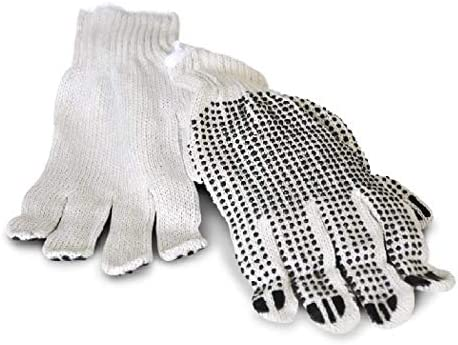 Free Shipping Single Dotted PVC Gloves Industrial Grade Men/'s Size 12 Pairs