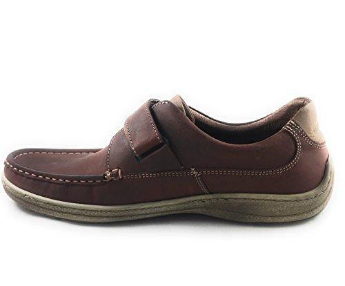 correa piel de marrón zapato Velcro diario SoftWalk con CTnwAqCZ
