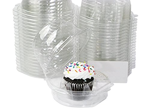 Katgely Cupcake Boxes Cupcake Containers for Individual Standard Cupcake, Set of 45
