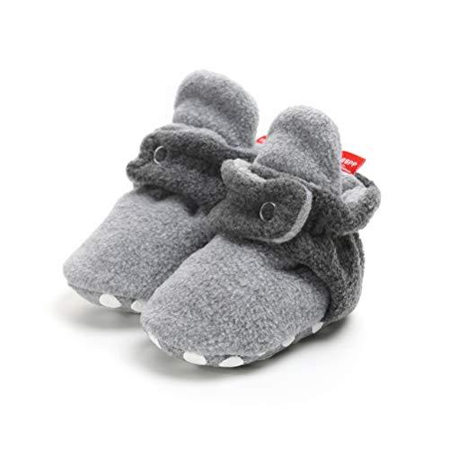 Regolabile Bambino Invernali Stivali Da Neonato Unisex Pelliccia Bootie Piatto Cotone Antiscivolo Grigio Fondo Morbido Calzino n Neve Per L Bz4xzZ