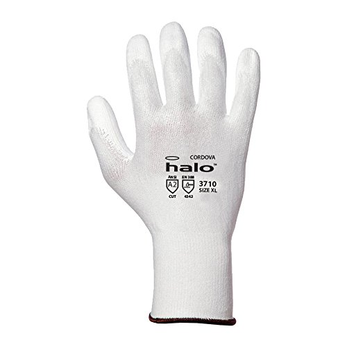 Cordova 3710 Halo HPPE A2 Gloves White Large 6 Pairs