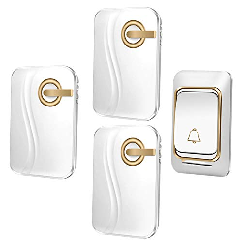 Wireless Doorbell DC battery-operated 200M remote waterproof 1 transmitter 1 receiver 36 rings door chime Cordless Bell,K03DC 1x3