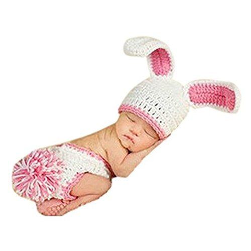 Eyourhappy Newborn Boy Girl Baby Outfits Photography Props White Rabbit ()