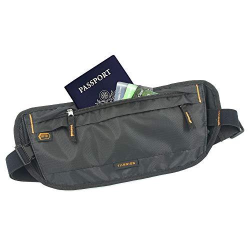 Tarriss RFID Money Belt & Hidden Travel Passport Wallet